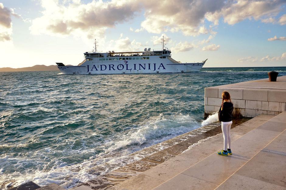 Morske orgulje, trajekt Juraj Dalmatinac (Foto: Ivan Katalinić / Antena Zadar)