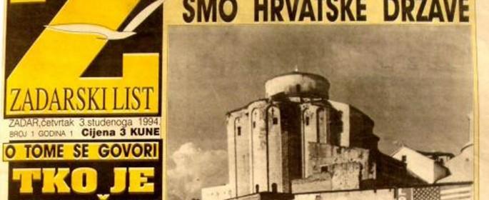 Zadarski list - prvi broj