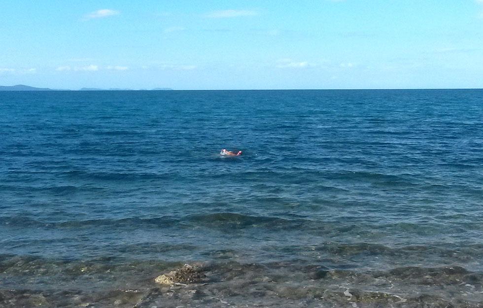 Kupanje na Boriku u veljači