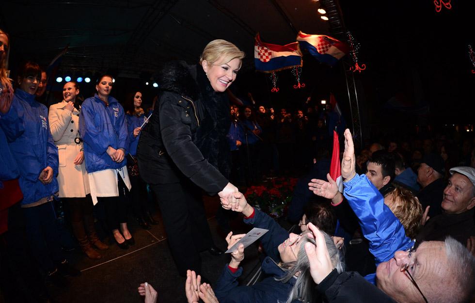 Kolinda Grabar Kitarović na Narodnom trgu