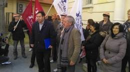 Prosvjed bivših radnika SAS Vektora
