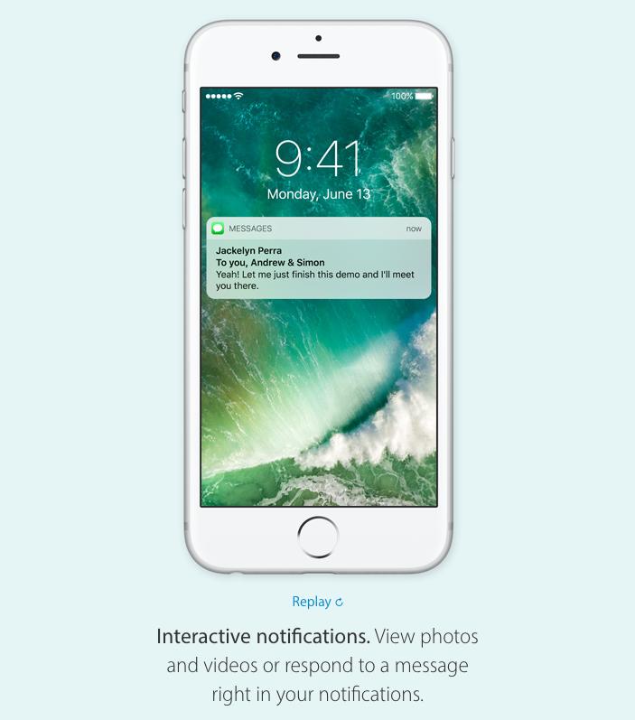 iOS 10 notifikacije