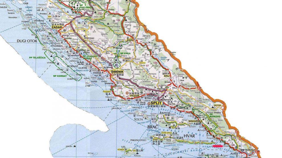 dalmacija mapa Na današnji dan 1943. okupirani dijelovi Dalmacije vraćeni  dalmacija mapa