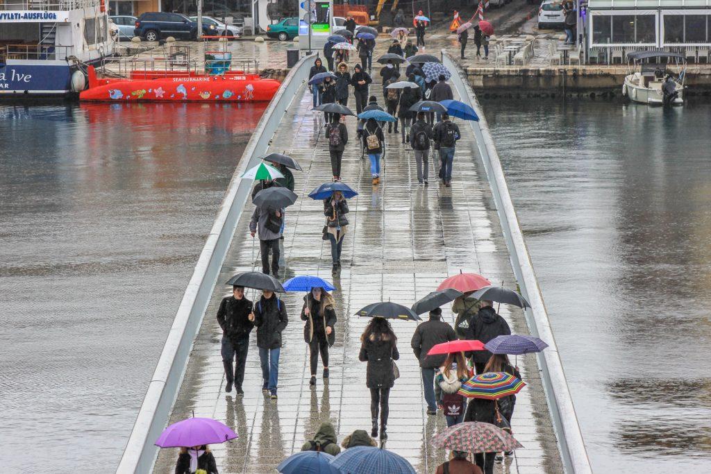 Danas obilna kiša, poslijepodne i navečer zahlađenje