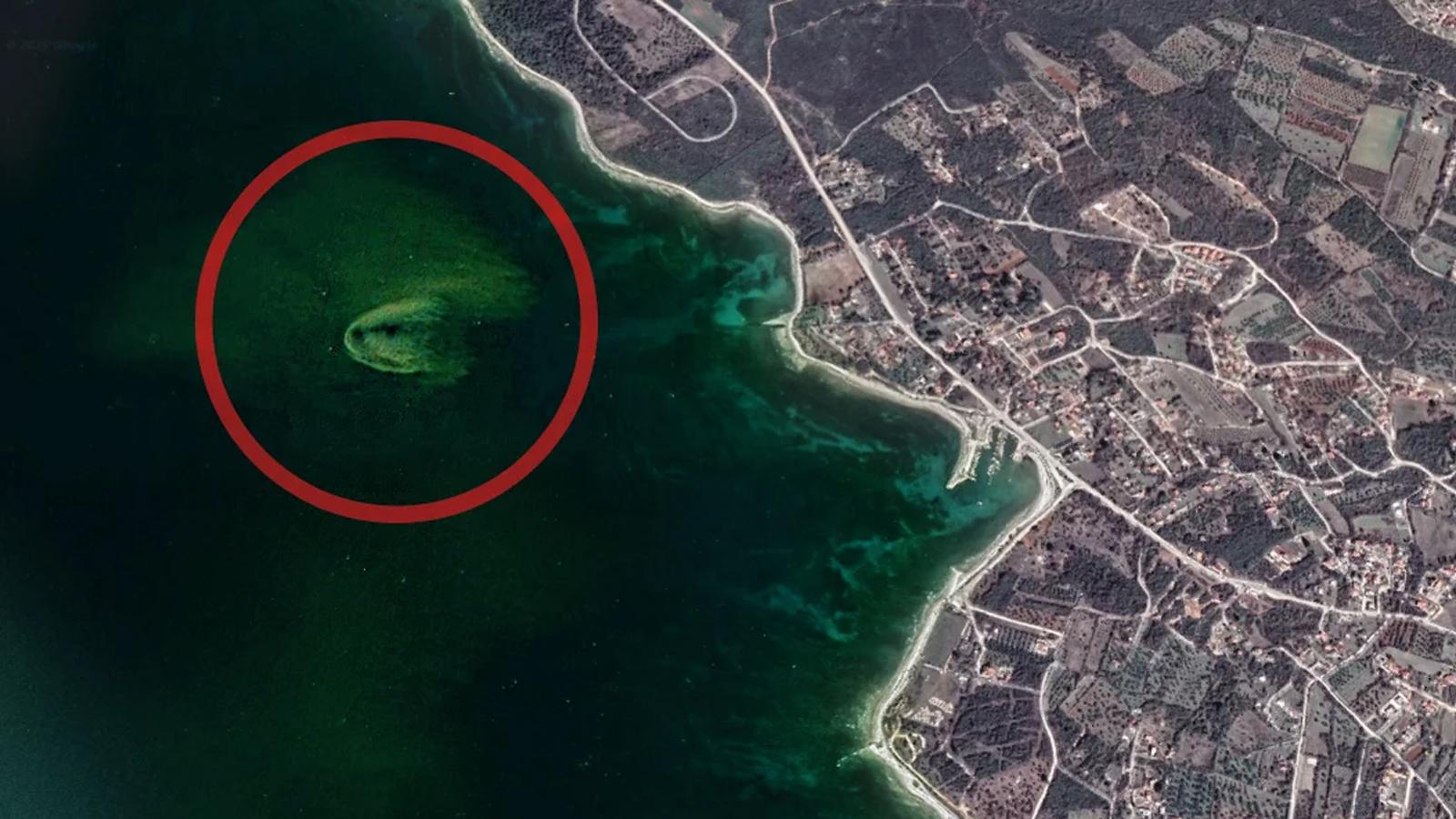 Ispust kanalizacije kod Vodnjana snimljen iz svemira