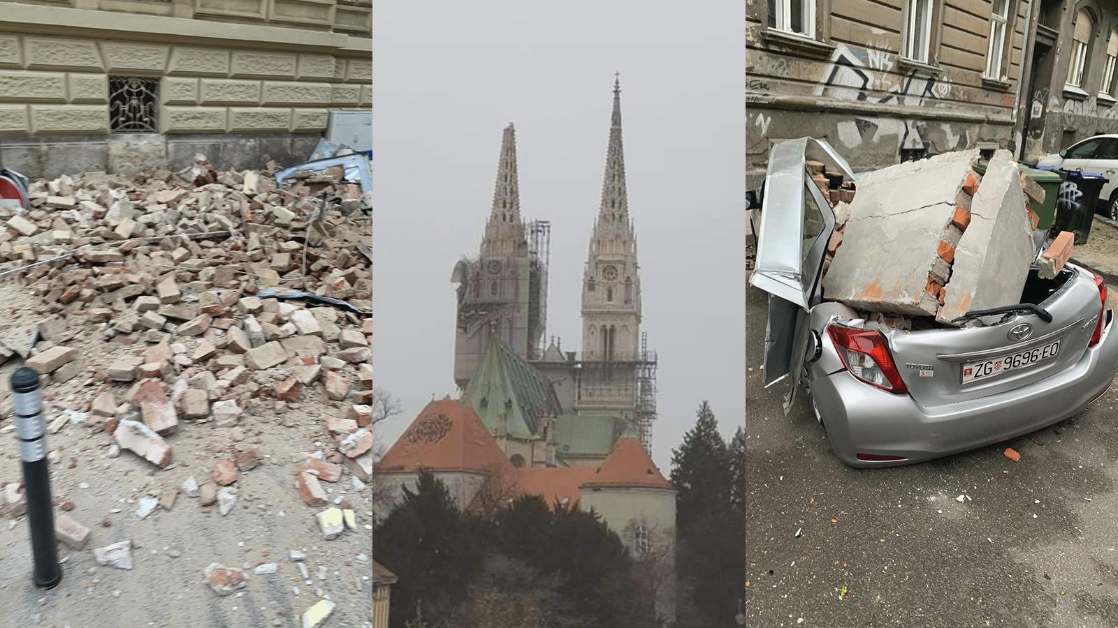 Tri Jaka Potresa Pogodila Zagreb Stanovnici Glavnog Grada Izasli Iz Stanova Ima Stete I Ozlijeđenih
